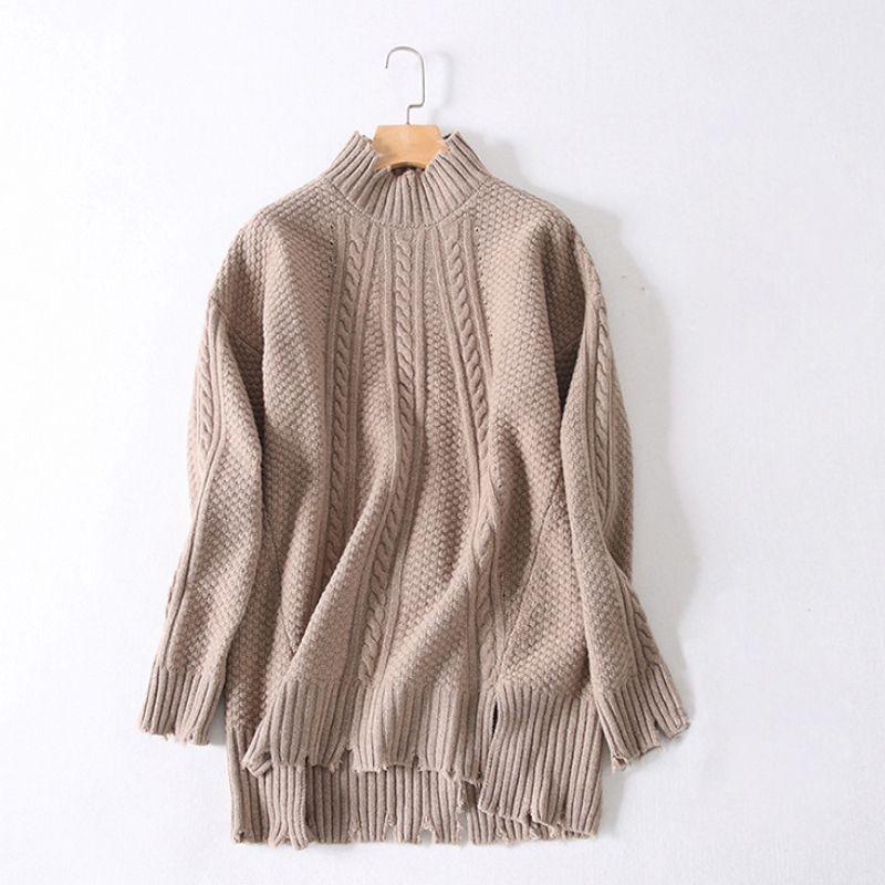 2018 Wholesale Women Cable Knit Sweaters 2017 Autumn Winter Semi