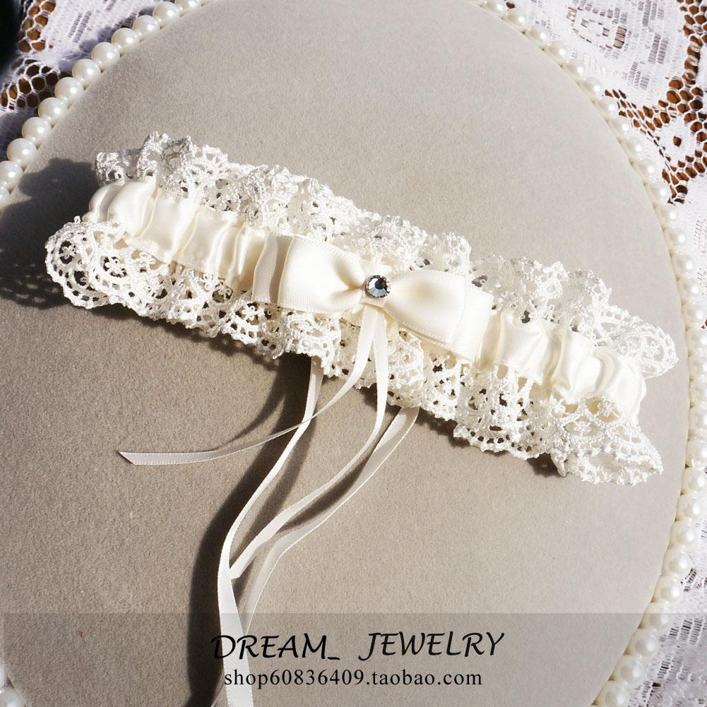 Ivory Garters Wedding: Ivory Bridal Garters Full Of Lace Wedding Leg Garters