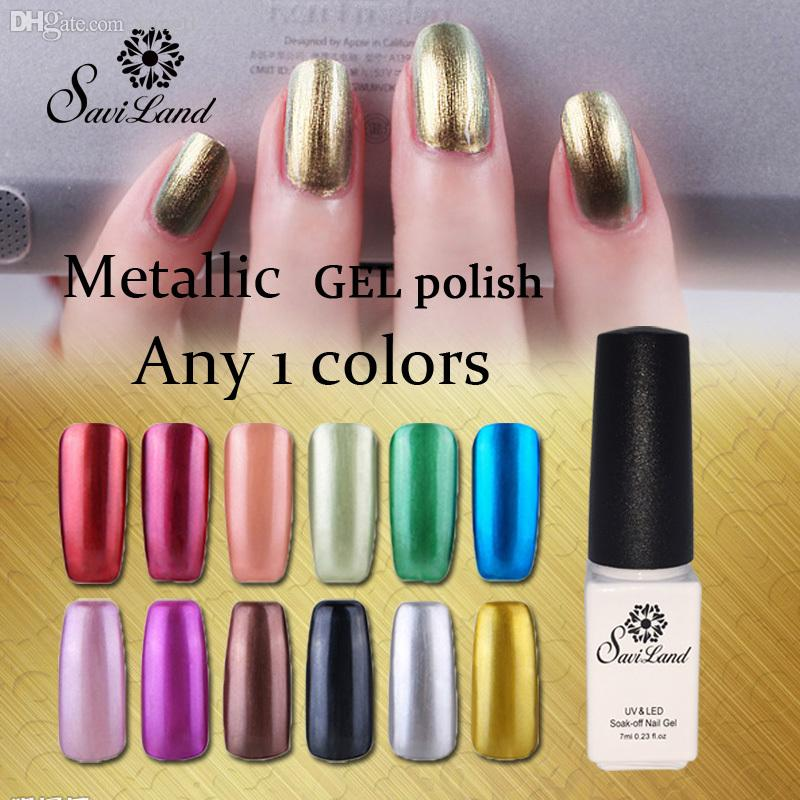 Metallic Gel Nail Polish: Wholesale Hot Metallic Mirror Effect Gel Nail Polish Soak