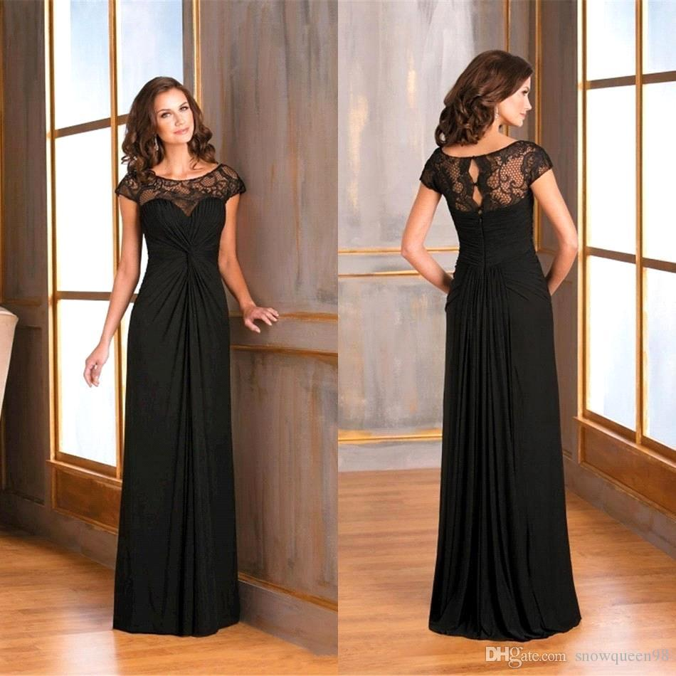 black mother of the bride dress
