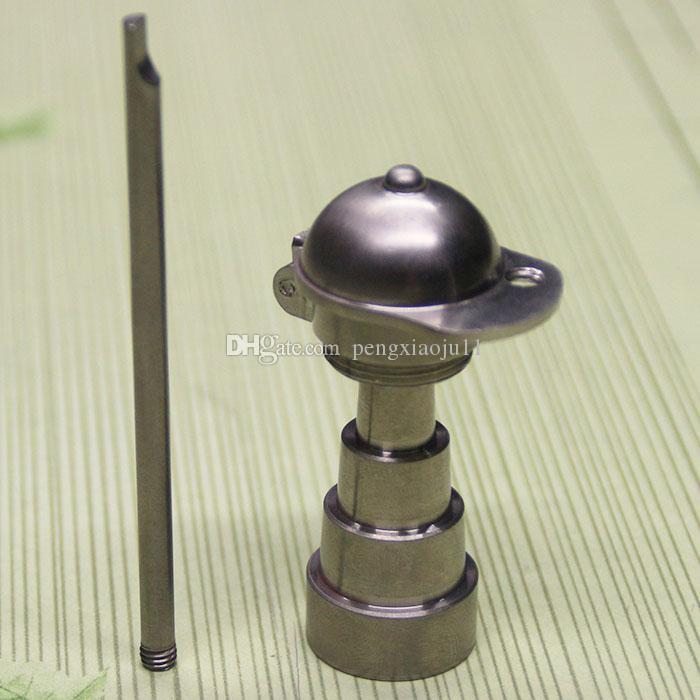 最新の調整可能なドームレスの紳士帽子と野球帽のチタンネイル10 14 18 mm(1)男性と女性のガラス玉