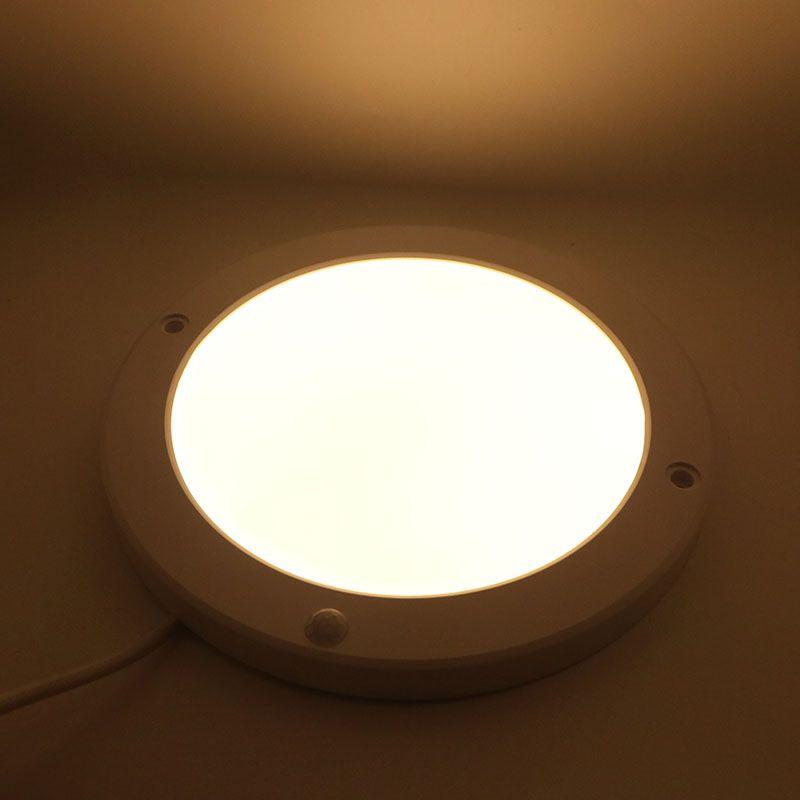 Super brilhante 15 W 90-130 V PIR sensor de luz do painel Quadrado Redondo Sensor LED Downlight Lâmpadas de Cor Branca Quente para Sala De Jantar