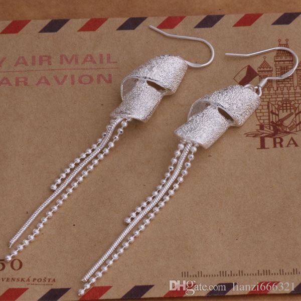 Мода изготовление ювелирных изделий 40 шт. кисточкой серьги стерлингового серебра 925 заводская цена мода обуви серьги AE004