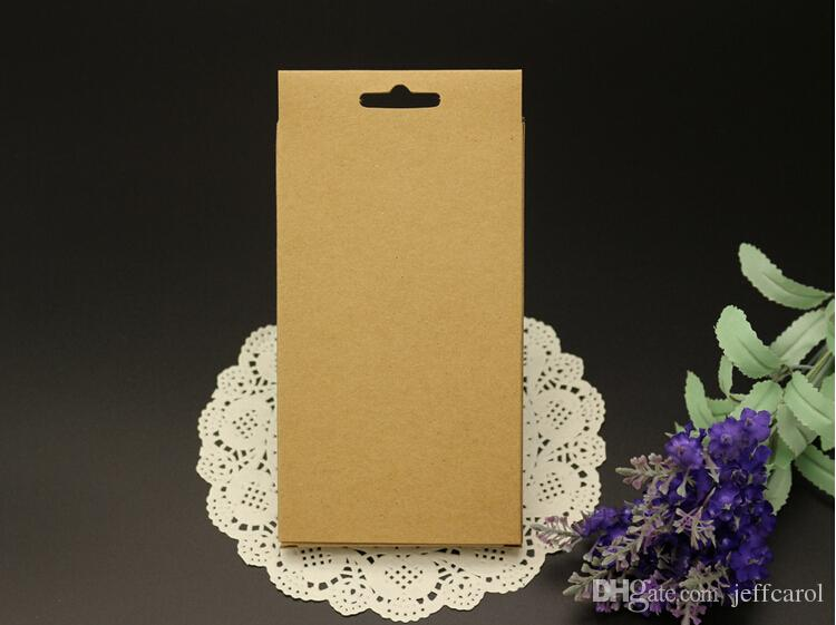 Universal Phone Case Package Paper Kraft Brown Retail Packaging Box for iphone 4 5 6 Samsung S4 S5 Note 2 3 4 Cell phone