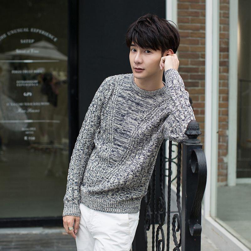 2019 2015 Autumn Winter Style Korean Mens Vintage Sweater Luxury Men
