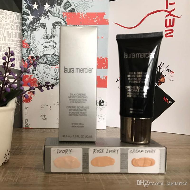 2017 New Laura Mercier Silk Creme Photo Edition Foundation 30ML 3shades IVORY\ROSE\ IVORY CREAM Stocking