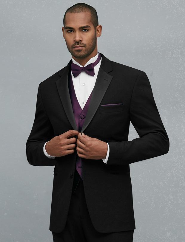 Custom Made Two Button Black Groom Tuxedos Notch Reverij Groomsmen Mens Bruiloft Prom Suits jas + Pants + Vest + Tie H285