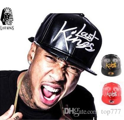 aaf0da879ca High Quality Black Gold Last Kings Snapback Caps Full Leather Most ...