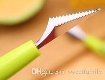 300 Stalinless Steel Double-End-Melone Baller Scoop Obst Löffel Eis Sorbet Küche Zubehör Gadgets