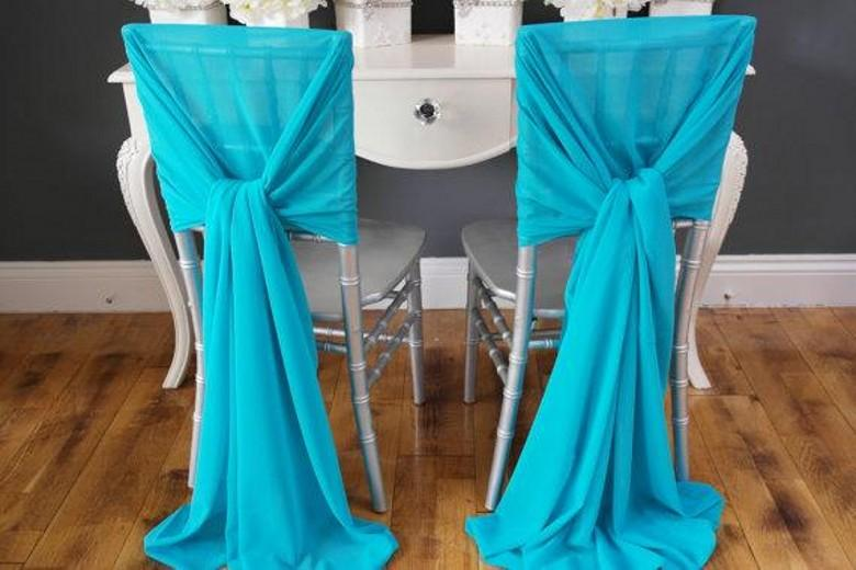 Incroyable 2018 Soft Blue Chiffon Wedding Chair Covers And Sashes 2015 New Custom Made  Long Wedding Banquet Party Chair Cover Ties From Blissbridal, $123.22 |  Dhgate.