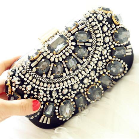Vintage 2016 Bridal Hand Bags Crystal Beads Sequins Clutch Evening ...