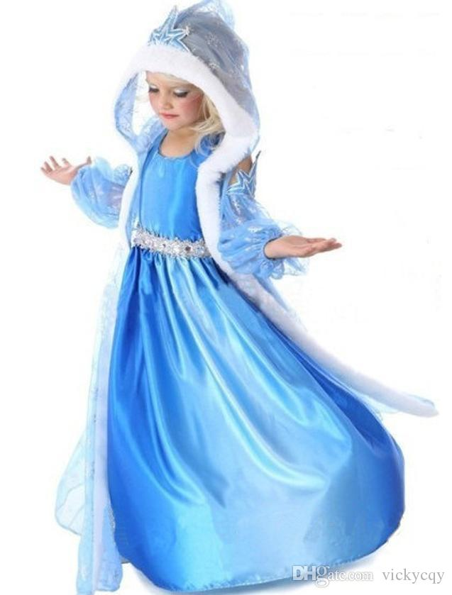 ... Christmas Suits Frozen Elsa Anna Baby Suits Dress+Cloak Suits Kids Long Sleeved Hooded Gauze ...  sc 1 st  DHgate.com & 2018 Christmas Suits Frozen Elsa Anna Baby Suits Dress+Cloak Suits ...