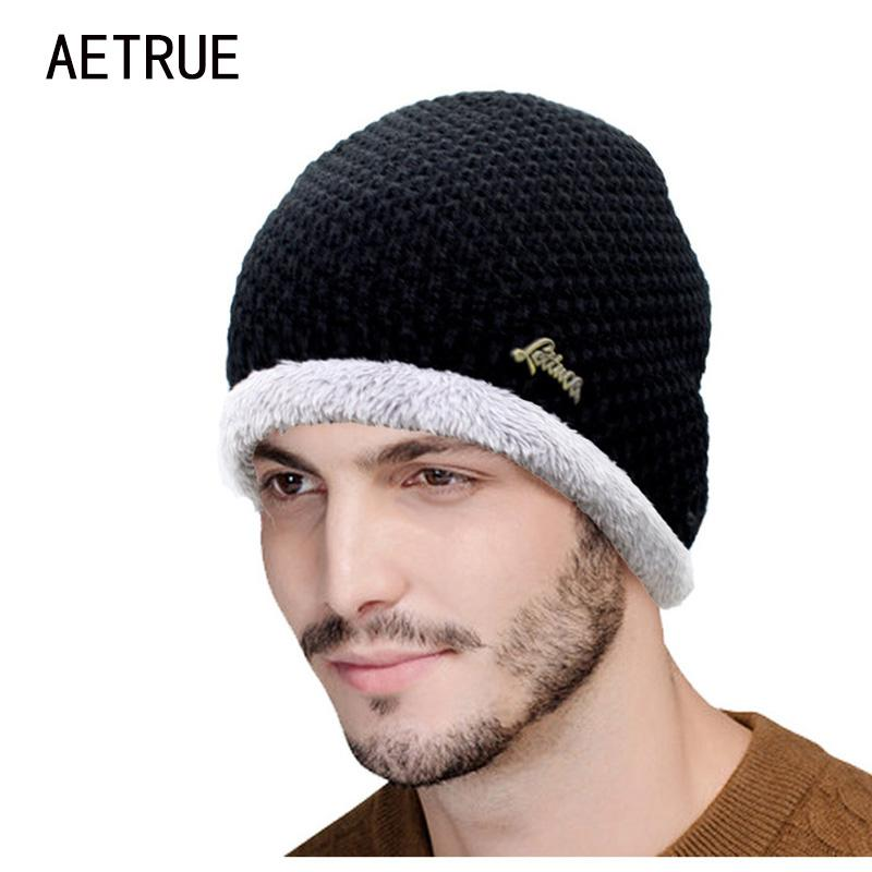 70b6e3a7bac Winter Beanies Knit Hat Men  S Winter Hats For Men Women 2017 Brand Bonnet  Skullies Men Hat Fur Caps Gorros Warm Thicken Wool Cap Beanies For Women  Beanie ...