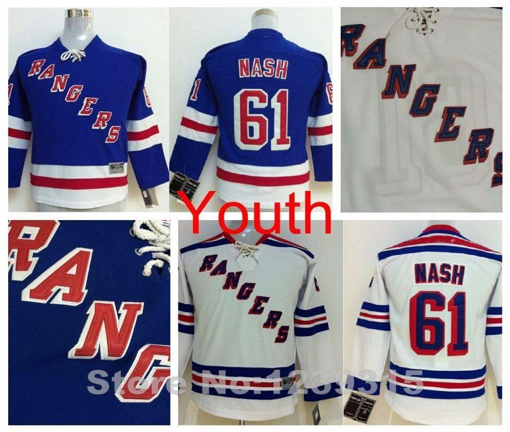 ... usa 2018 2016 new boys new york rangers jersey 61 rick nash jersey  jerseys youth blue 8f1b8342e