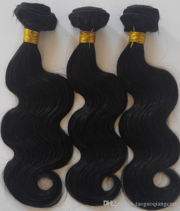 Brazilian virgin Hair Body Wave best Quality hair weft extensions hot sale 8-26inch Natural Color and Black #1 #1b Indian remy human hair