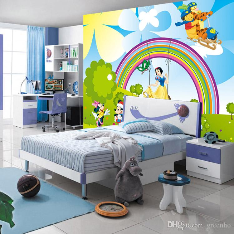 Cute Cartoon Wallpaper Snow White Mickey Mous Photo Wallpaper Custom 3d Wall  Mural Kids Girl Nursery Room Decor Bedroom Sofa Background Wall Wallpaper  ... Part 26