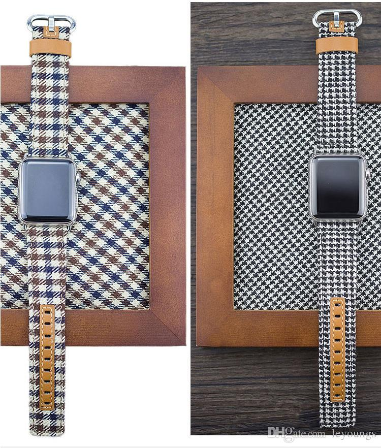 12 Style Fashion Denim Jeans Style Band for Apple Watch 42mm 38mm 40mm 44mm Leather Fabric Strap for iWatch Band Series 4 3 2 1