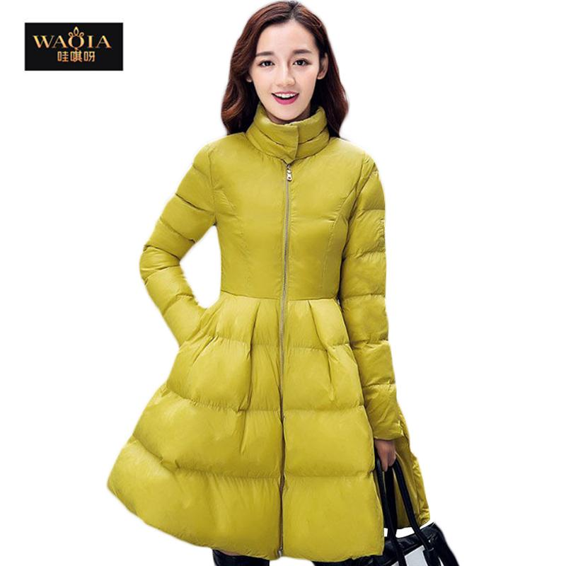 2017 2016 Down Coat Vestidos Luxurious Goose Down Jacket Girls ...