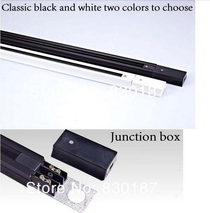 Riel de carril LED de 1 m, conectores de riel de riel ligero, rieles universales, riel de aluminio, accesorios de iluminación, negro, blanco, carcasa plateada