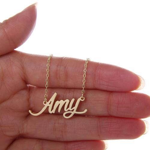 Namensschild Halskette für Frauen Personalisierte Namenskette Namensschild