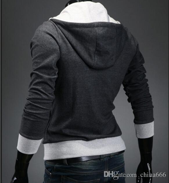 2016 Cappotto da uomo NUOVO CALDO Cappotto Slim Design con cappuccio personalizzato Felpe Giacca Maglione Assassins Creed Taglia M-6XL Plus Size