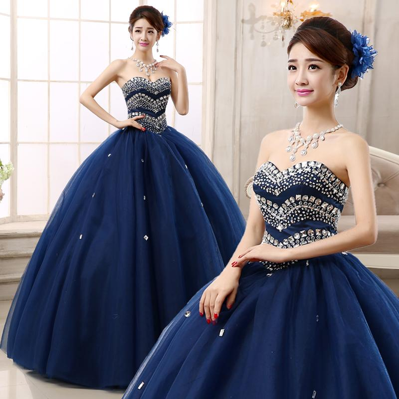 Most Beautiful Prom Dresses Ball Gown: 2015 New Arrival Ball Gown Strapless Lace Up Floor Length