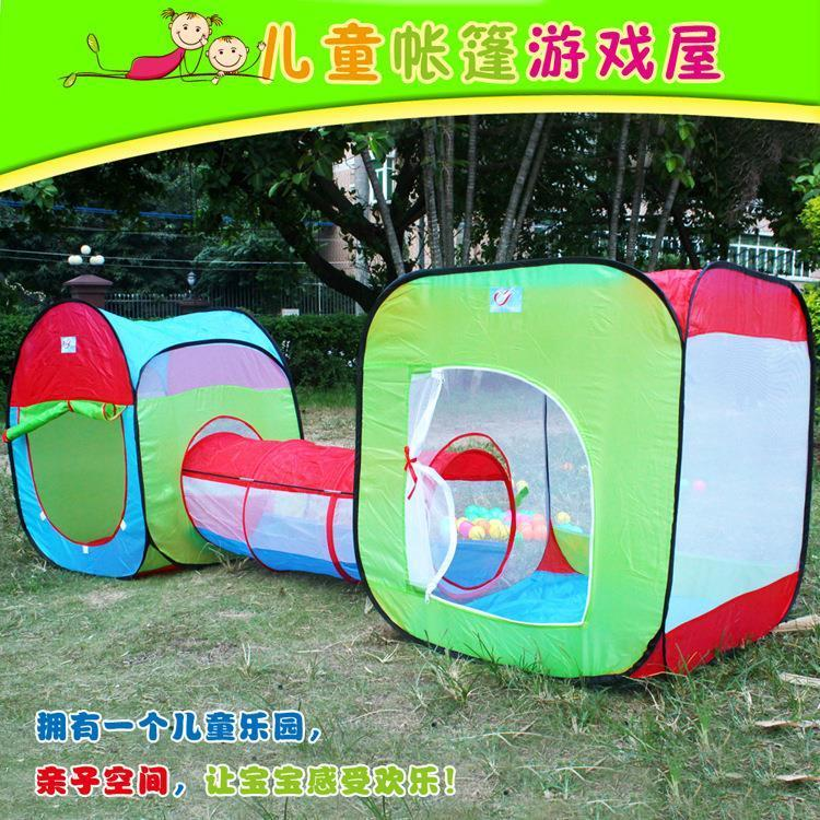 New Hot Child Tunnel Toy Tents Play Game House Tunnel Three In One Outdoor Childrenu0027S Ball Pool Quality Play Tents For Toddlers Play Tents For Children From ... & New Hot Child Tunnel Toy Tents Play Game House Tunnel Three In One ...