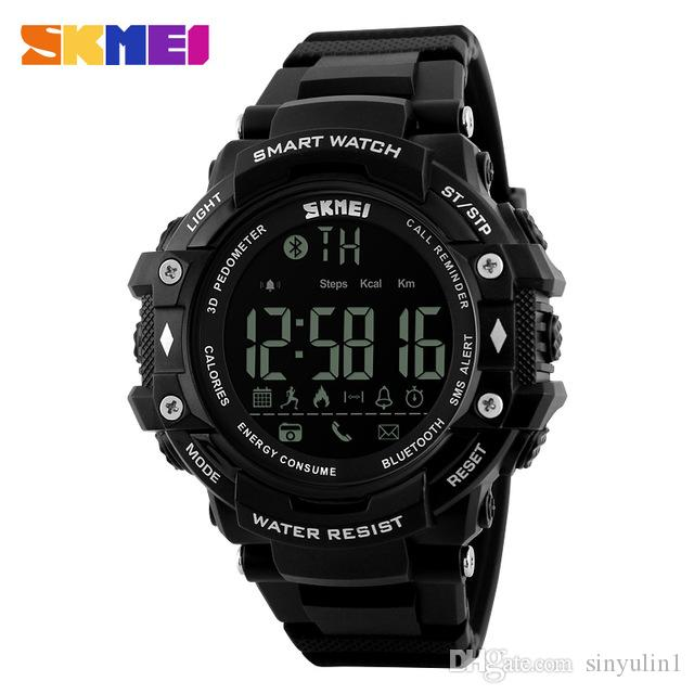 Digital Watches Men's Watches Flight Tracker Skmei Sports Watchesmen El Light Double Time Watch Alarm Chrono Digital Wristwatches 50m Waterproof Relogio Masculino Saat