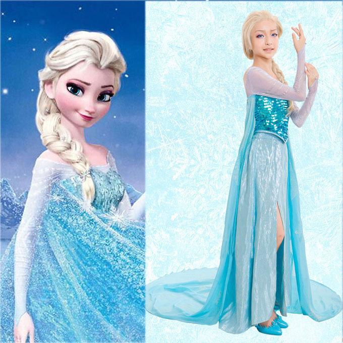 Luxury Elsa Dress Adult Costume Princess Elsa Cosplay Halloween For Women Lady Costumes Snow Queen Dress Sy Halloween Costumes For Work Groups Costumes For ...  sc 1 st  DHgate.com : elsa womens costume  - Germanpascual.Com