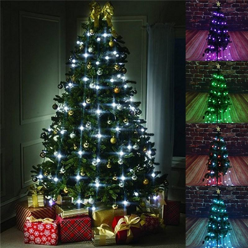 wholesale 48 led string light christmas tree fiber optical holiday light ball bulb lamp for wedding christmas decoration led battery string lights led - How To String Lights On A Christmas Tree