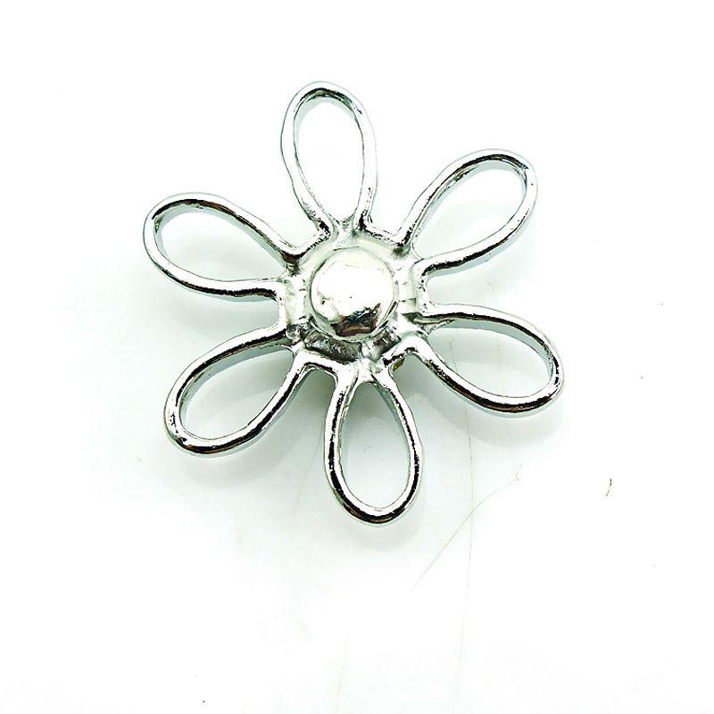 Moda 18 mm botones a presión Rhinestone perforado flor jengibre broches Noosa intercambiables accesorios de la joyería NKC0033