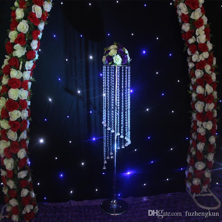 Ücretsiz kargo S şekli Akrilik Kristal Düğün Centerpiece / Masa Centerpiece 48