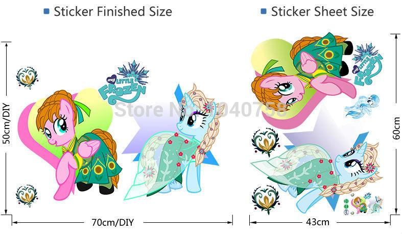 Elegant Home Decor Wall Sticker My Little Pony Wall Stickers For Kids Nursey Room  Cartoon Frozen Fever Wall Sticker Decoration Wall Decals Poster Big Wall  Stickers ... Part 24