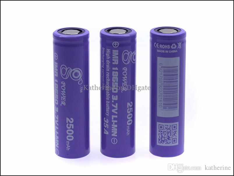 Scarico Batteria ricaricabile 18350 18650 18650 900mah 2200mah 2500mah 3,7 V Li-MN Corrente di scarica elevata 35 A sigaretta Nemesis Re Mod