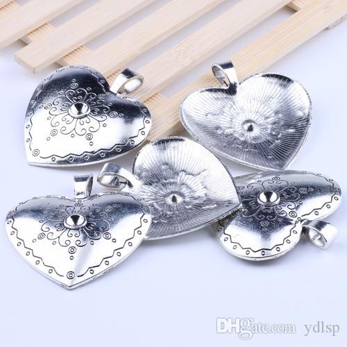 Любовь сердце кулон подходят браслеты или ожерелье Античное серебро / бронза подвески DIY ювелирных изделий 10 шт. / лот 2063z
