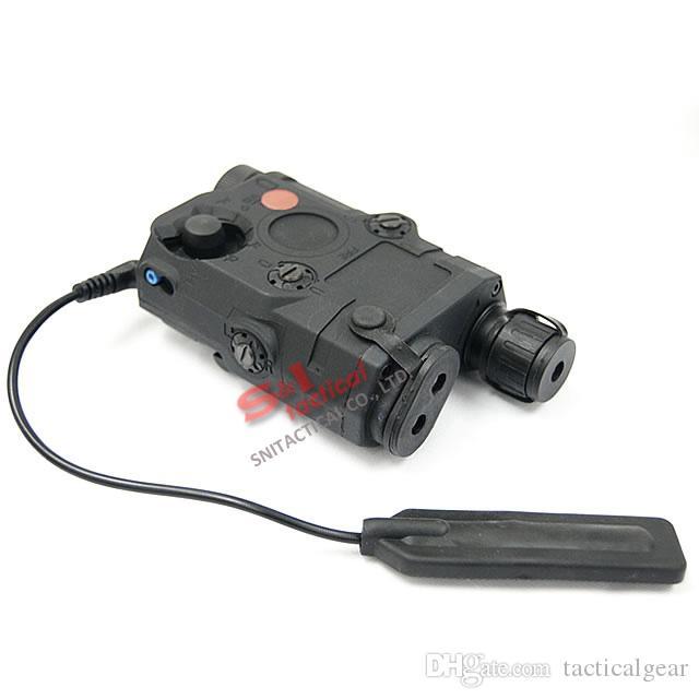 전술적 인 AN / PEQ-15 빨간 레이저와 화이트 LED 손전등 토치 IR 조명기 사냥 야외 검정 / 어두운 지구