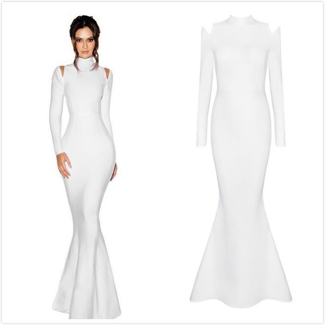 White Turtleneck Dresses
