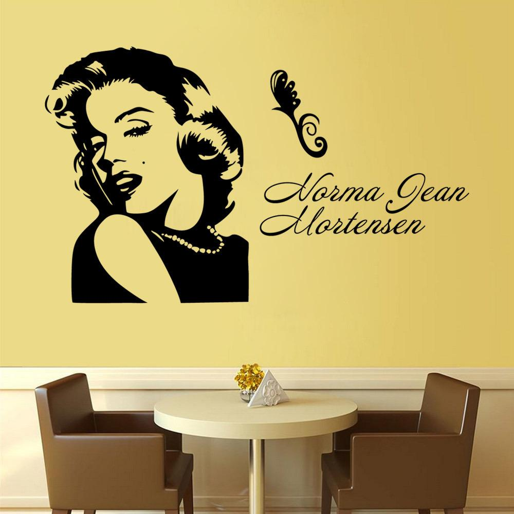 People Marilyn Monroe Wall Stickers Waterproof Pvc Wall Stickers Home Decor  Living Room Removable Letters Welcome Wall Sticker Sticker Wall Decals  Sticker ...
