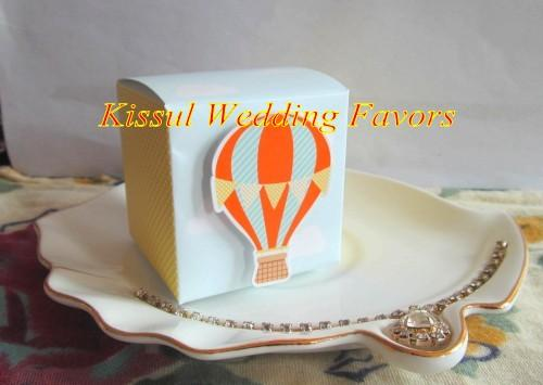 Up, Up and Away! Hot Air Balloon Favor Box For baby gift box and wedding party favor and baby shower favor box