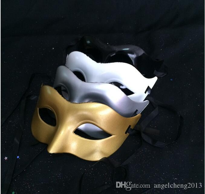 Express Free Venetian Party Mask Roman Gladiator Halloween Party Masks Mardi Gras Masquerade Mask Color: Gold, Silver, Black, White