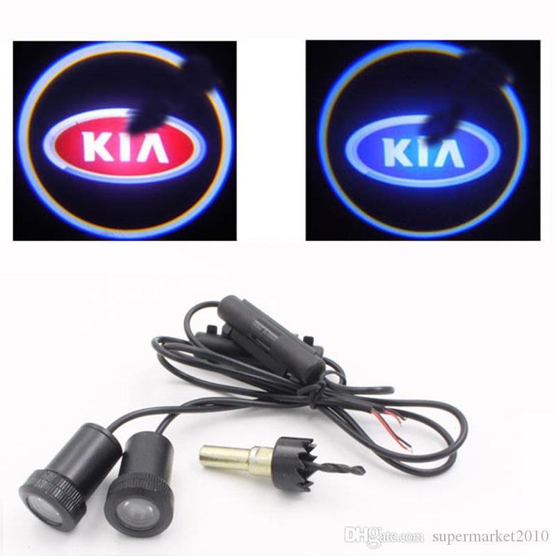 2 adet LED Araba Kapı Işıkları KIA KX5 KX3 K5 K3 K2 LED Araba Hoşgeldiniz Lazer Projektör Gölge Harici İç Aksesuarları Işık