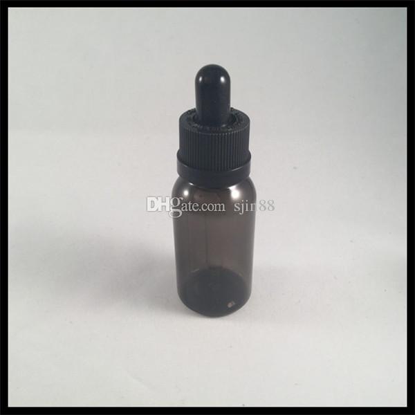 Siyah 30 ml PET Eliquid Şişe Ile Cam Damlalık Şişe Ve Çocukların Açamayacağı Kap Ecigarette Boş Plastik E Sıvı Şişe