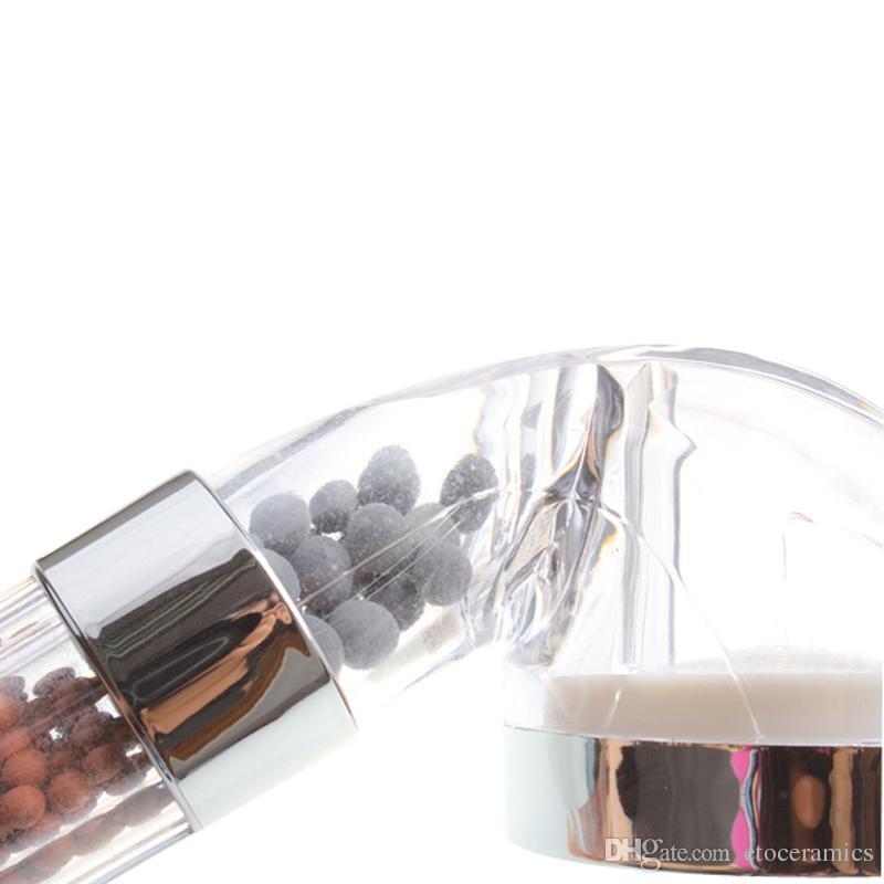 توفير المياه دش رئيس فيتامين c الايكولوجية رائحة رائحة المعدنية سلبية ايون الأكسجين صحي الشعر صالون فوهة الرش البخاخ