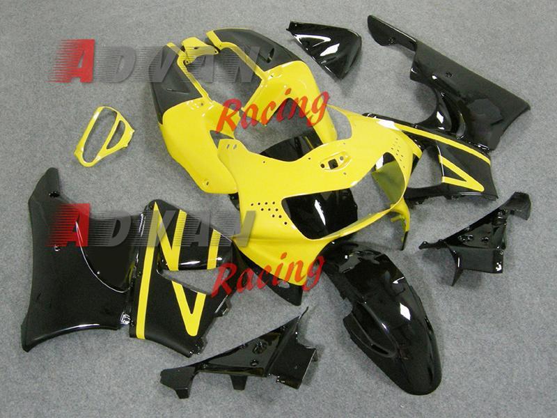 2014 Hot Yellow black ABS Fairing Bodywork Plastic Kit Set CBR900RR 1998-1999 002