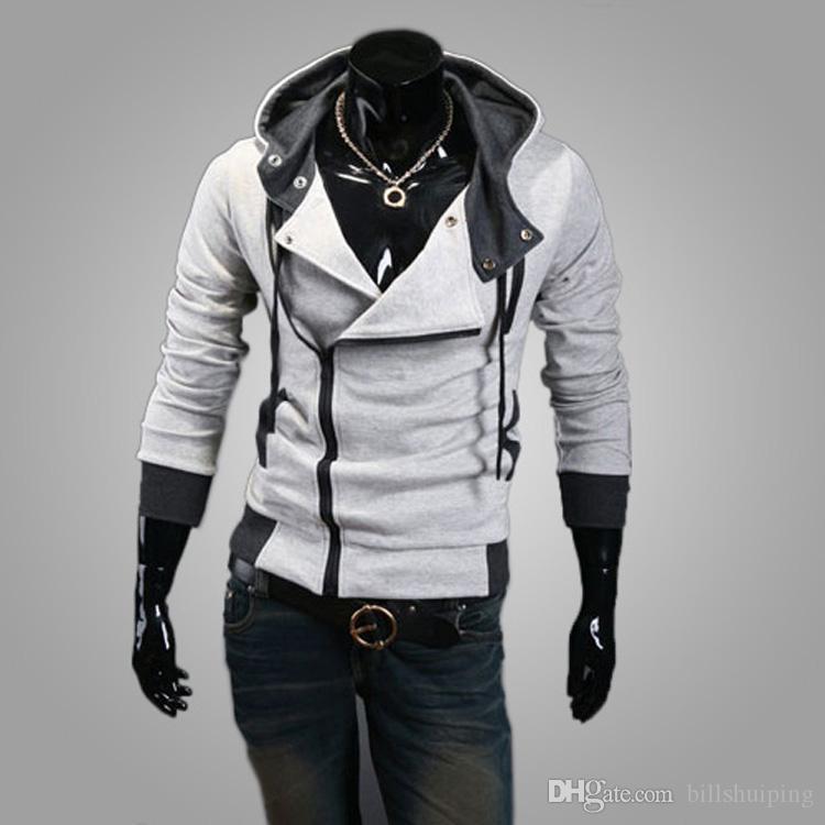 جديد وصول الرجال هوديس البلوز سليم أنيق سترات تأثيري حلي أزياء الرجال القتلة العقيدة سترة الكورية