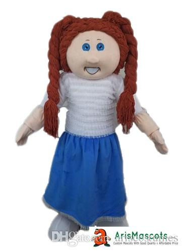 Cabbage patch kids 14 inch kid, tan brunette girl doll (cowgirl.