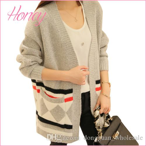 2018 Long Cardigan Winter Sweater 2017 Womens Fall Fashion Knitted ...
