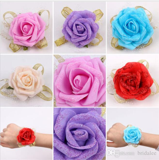 Accessori matrimoni Bridal Bridal Flowers a mano a buon mercato fiori da damigella d'onore fiori 2016 fiori di vendita caldi