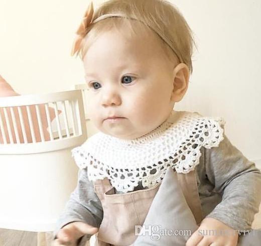 Großhandel Ins Baby Bib Neugeborene Kinder Spitze Nach Maß Kragen