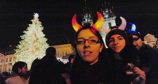 Noël Ox Corne Parti Chapeaux Clignotant LED Cheveux Fermoir Bandeau De Noël D'anniversaire Cadeau Cornes de Diable avec sac d'opp